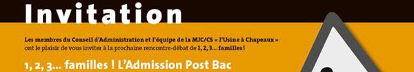 Actualités Rambouillet - 1, 2, 3 Familles à Rambouillet l'admission Post Bac