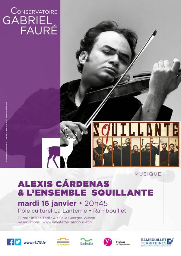 Alexis Cárdenas et l'Ensemble Squillante à La Lanterne à Rambouillet