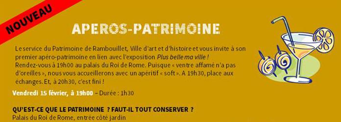 Actualités Rambouillet - Apéro-patrimoine au Palais du Roi de Rome à Rambouillet