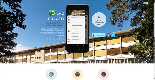 L'application Androïd du Lycée Bascan à Rambouillet