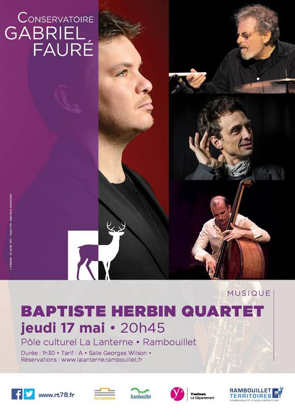 Baptiste Herbin Quartet au Pôle Culturel de La Lanterne à Rambouillet le jeudi 17 Mai 2018