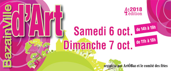 Actualités Rambouillet - Bazinville d'Art, 4ème édition, samedi 6 et dimanche 7 octobre 2018