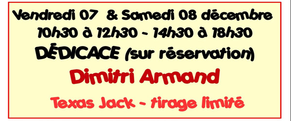 Actualités Rambouillet - BDFLASH Rambouillet vous invite à une séance dédicace avec Dimitri Armand les 7 et 8 décembre 2018