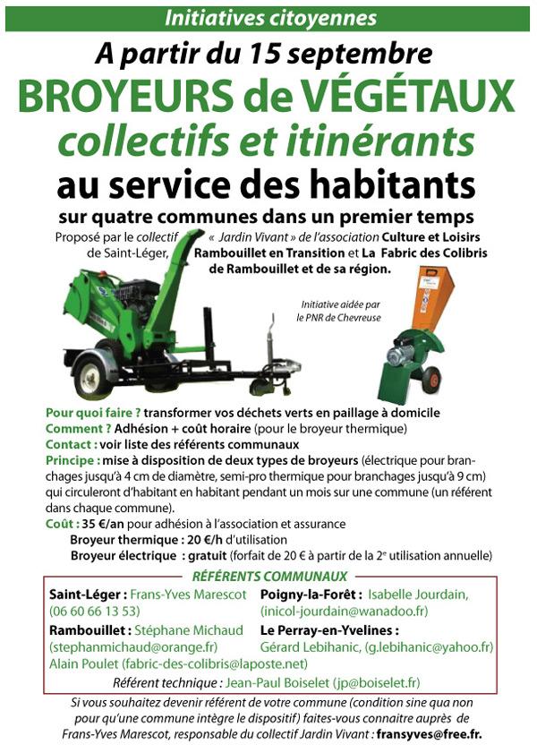 Initiative citoyenne à Rambouillet : Broyeurs de végétaux