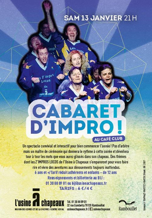 Les Z'impros Locos font leur cabaret à l'Usine à Chapeaux à Rambouillet