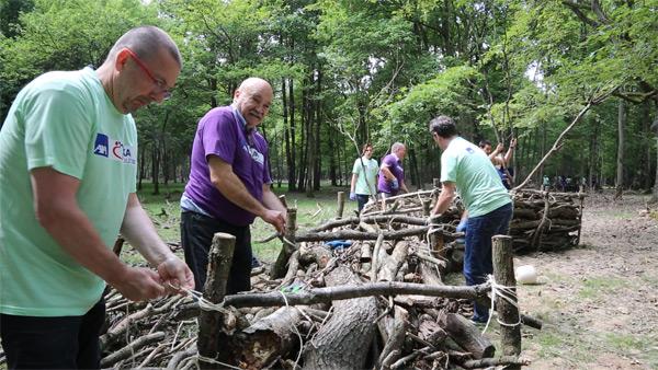Chantiers nature Team Building en forêt de Rambouillet