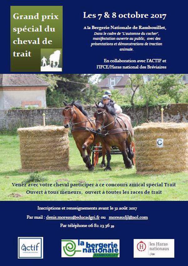 Grand prix spécial du cheval de trait à la Bergerie Nationale de Rambouillet les 7 & 8 octobre 2017