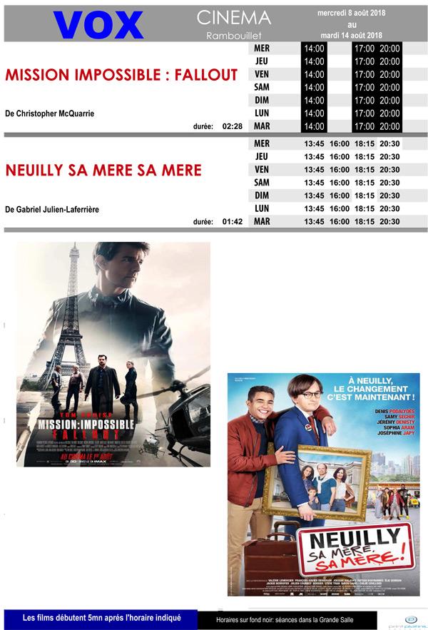 A l'affiche de votre cinéma Vox à Rambouillet, du mercredi 8 au mardi 14 août 2018
