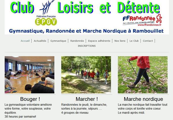 Du nouveau sur le site internet du Club Loisirs et Détente Rambouillet