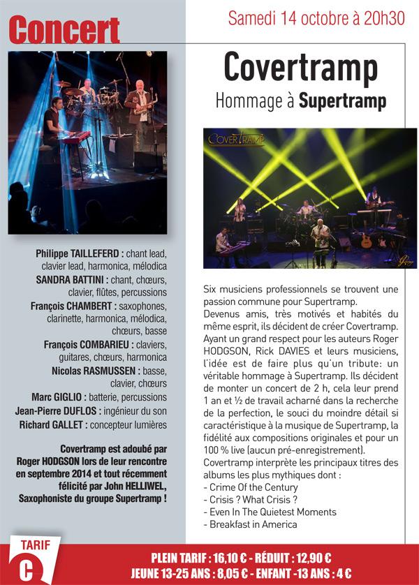 Concert de Covertramp, un hommage à Supertramp à Epernon