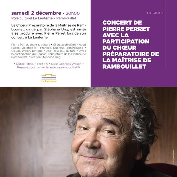 Concert de Pierre Perret avec la participation du choeur préparatoire de la Maîtrise de Rambouillet
