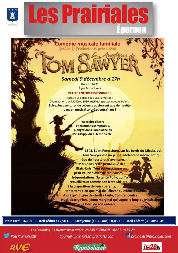 Les Prairiales à Epernon vous propose Les Aventures de Tom Sawyer