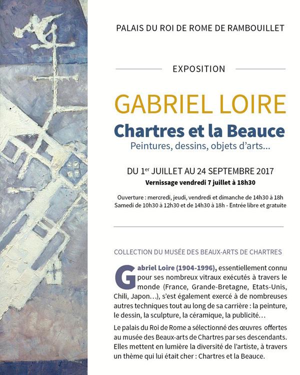 GABRIEL LOIRE Chartres et la Beauce Peintures, dessins, objets d'arts...