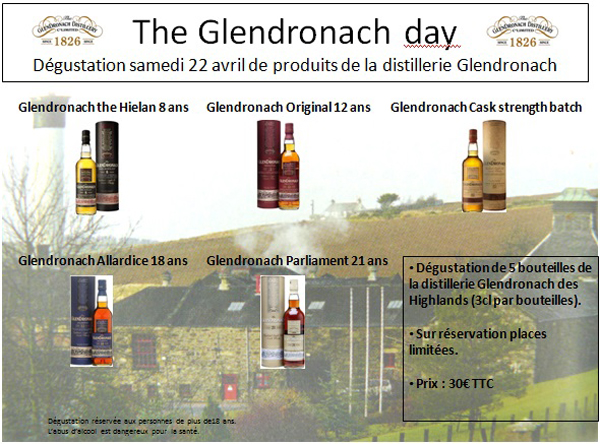The Glendronach Day à Rambouillet