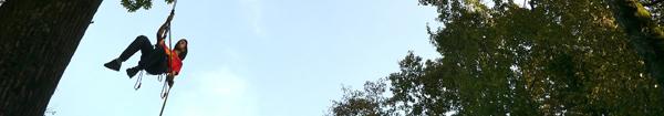 Grimpez aux arbres � l'Espace Rambouillet