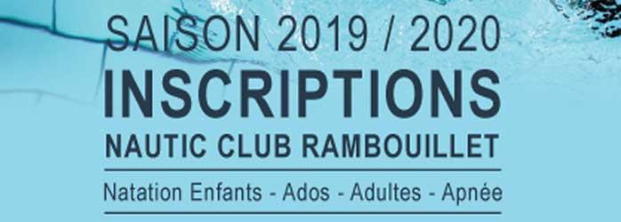 Actualités Rambouillet - Inscriptions au Nautic Club de Rambouillet : saison 2019 / 2020