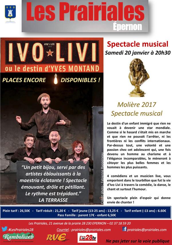 Ivo Livi ou le destin d'Yves Montand aux Prairiales à Epernon