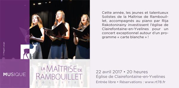 Les solistes de La Maîtrise de Rambouillet investissent l'église de Clairefontaine-en-Yvelines