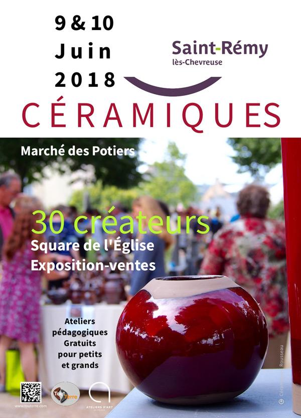 Le Marché des Potiers à Saint-Rémy-lès-Chevreuse, les 9 et 10 juin 2018