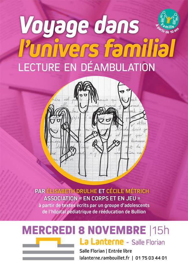 Lecture en déambulation à la Médiathèque de La Lanterne à Rambouillet