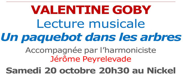 Actualités Rambouillet - Lecture musicale au Théâtre Le Nickel à Rambouillet : un Paquebot dans les arbres