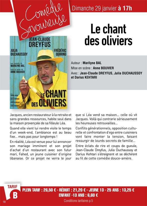 Théâtre Les Prairiales à Epernon : le chant des oliviers
