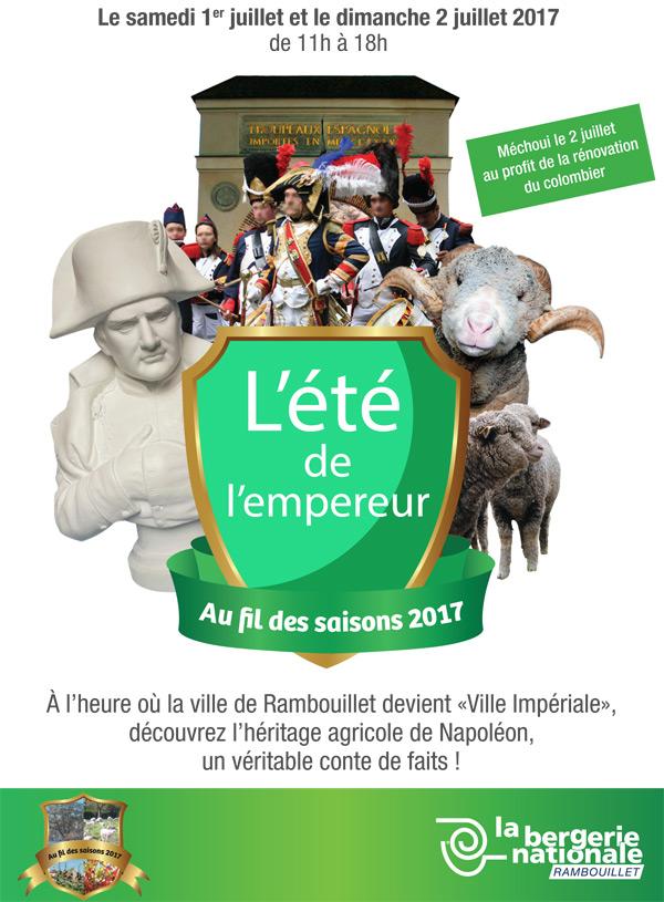 L'été de l'Empereur à la Bergerie Nationale, samedi 1er et dimanche 2 juillet 2017