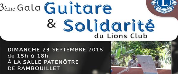 Actualités Rambouillet - Guitare & Solidarité du Lions Club, salle Patenôtre de Rambouillet