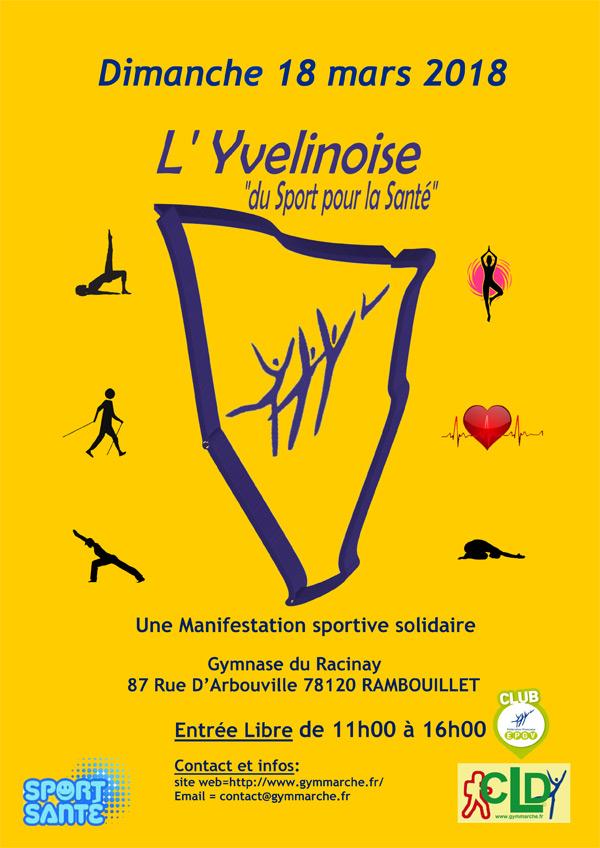 L'Yvelinoise, du sport pour la santé, à Rambouillet, le dimanche 18 mars 2018
