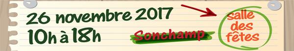 Marché de Noël à la salle des Fêtes de Sonchamp