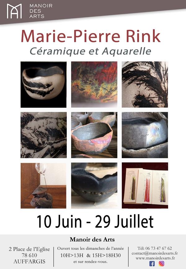 Marie-Pierre Rink, Céramique et Aquarelle, au Manoir des Arts, jusqu'au 29 juillet 2018