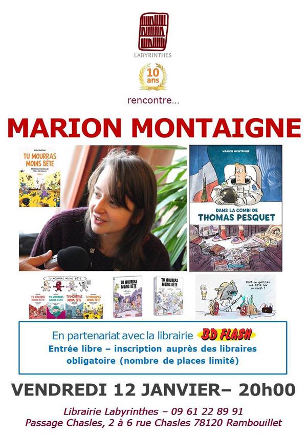 Rencontre avec Marion Montaigne à la librairie Labyrinthes