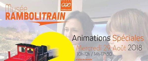 Actualités Rambouillet - Animations spéciales au Musée Rambolitrain de Rambouillet le mercredi 29 août 2018