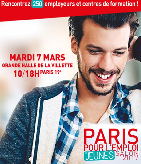 Paris pour l 39 emploi des jeunes salon 2017 for Porte de la villette salon orientation
