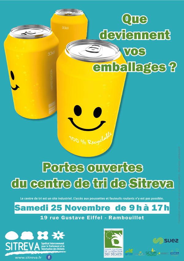 Portes ouvertes au centre de tri des emballages de Sitreva à Rambouillet