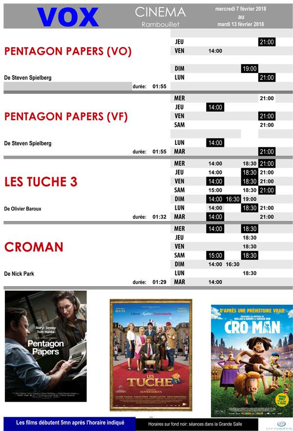 A l'affiche de votre cinéma Vox à Rambouillet du mercredi 7 au mardi 13 février 2018