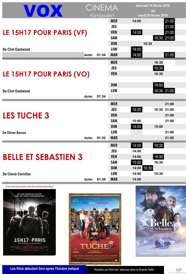 A l'affiche de votre cinéma Vox à Rambouillet, du mercredi 14 au mardi 20 février 2018