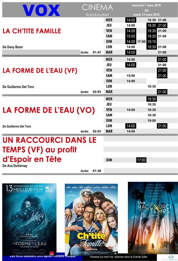 A l'affiche de votre cinéma Vox à Rambouillet, du mercredi 7 au mardi 13 mars 2018