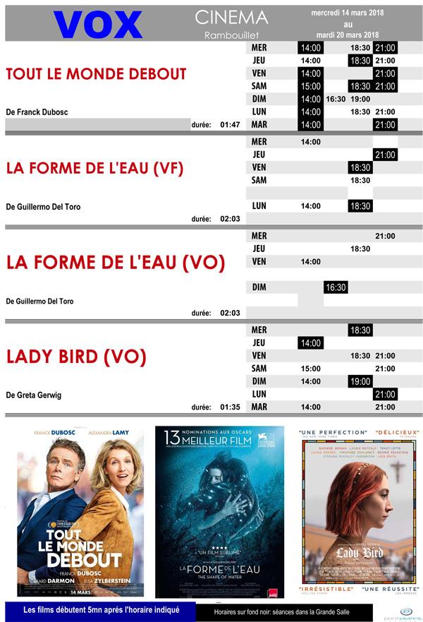A l'affiche de votre cinéma Vox à Rambouillet, du mercredi 14 au mardi 20 mars 2018