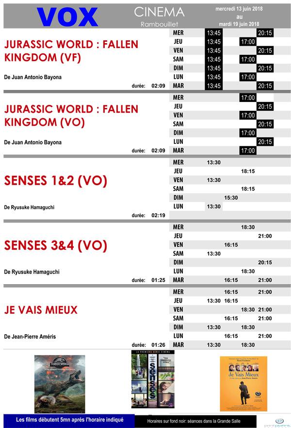 A l'affiche de votre cinéma Vox à Rambouillet, du mercredi 13 au mardi 19 juin 2018
