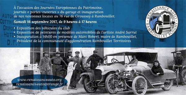 Les Journées Européennes du Patrimoine : Renaissance Auto Rambouillet Poigny