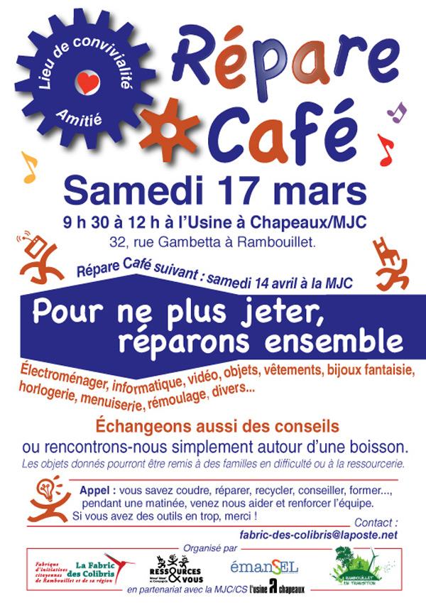 Répare Café à Rambouillet le samedi 17 mars 2018