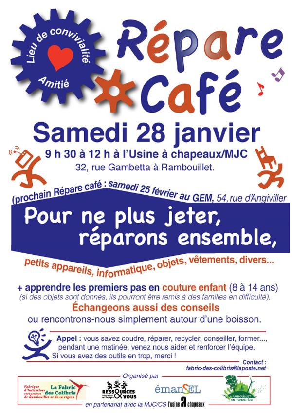 Répare Café à Rambouillet en janvier 2017