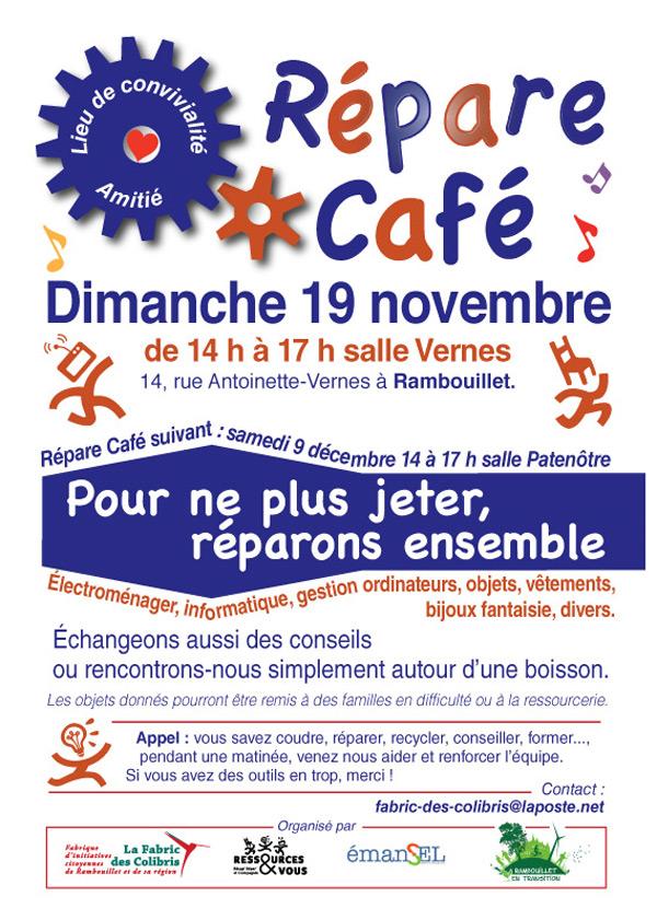 Répare Café à Rambouillet dimanche 19 novembre 2017