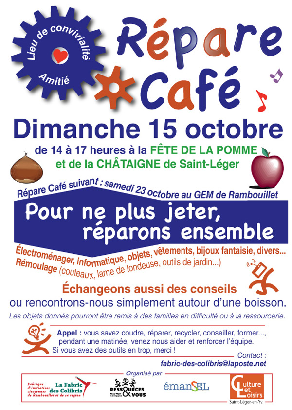 Répare Café à la Fête de la Pomme et de la Chataigne de Saint Léger en Yvelines