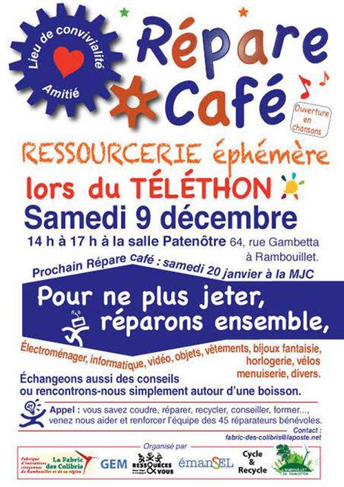 Le prochain Répare Café aura lieu à la salle Patenôtre le samedi 9 décembre 2017