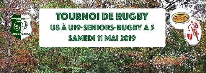 Actualités Rambouillet - Tournoi de Rugby à Rambouillet le samedi 11 mai 2019