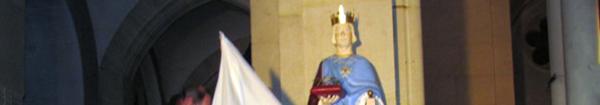 Actualités Rambouillet - Statue de saint Louis église Saint-Lubin
