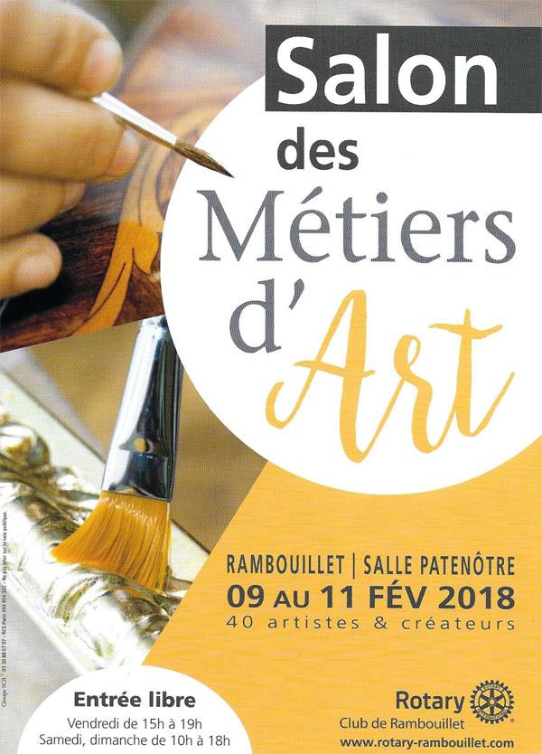 Le Salon des Métiers d'Art à Rambouillet, du vendredi 9 au dimanche 11 février 2018