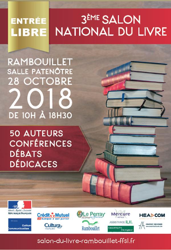 6bf73b57856e3 3ème Salon National du Livre Rambouillet Territoires, le 28 octobre 2018